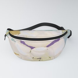 Mirrored White Rose Fanny Pack
