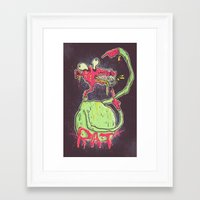 rat Framed Art Prints featuring Rat by GustavoTovar