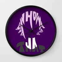 soul eater Wall Clocks featuring crona soul eater  by Rebecca McGoran