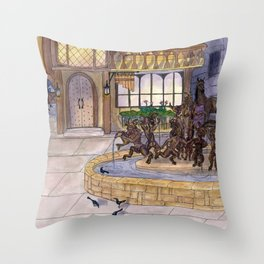 Early Morning at the Eolian Throw Pillow