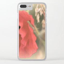 Poppies silken Clear iPhone Case