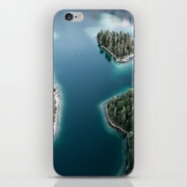 Lakeside Views at Sunset - Landscape Photography iPhone Skin