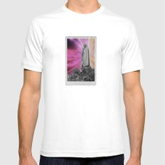 trip White MEDIUM Mens Fitted Tee