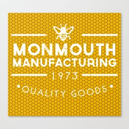 monmouth manufacturing white Canvas Print