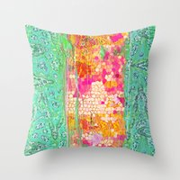 honeycomb Throw Pillows featuring Honeycomb by Ingrid Padilla