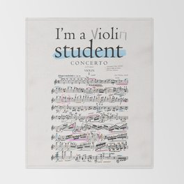 Violin student Throw Blanket