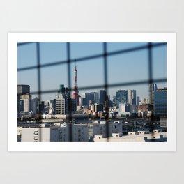 Tokyo Skyline from Odaiba Bridge Art Print