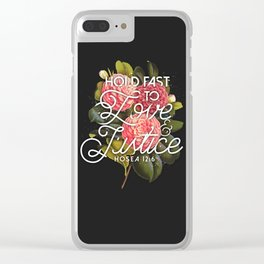 LOVE AND JUSTICE Clear iPhone Case