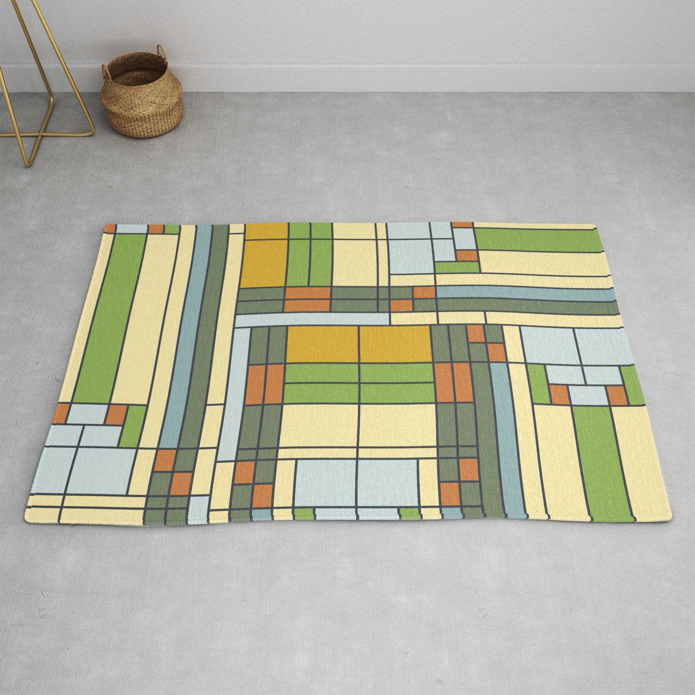 Frank Lloyd Wright Pattern S01 Rug By
