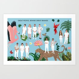 David Pirrotta's team Art Print