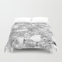 berlin Duvet Covers featuring BERLIN by Maps Factory