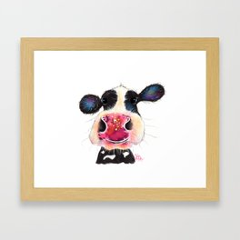 NoSeY CoW ' BuBBLeS ' BY SHiRLeY MacARTHuR Framed Art Print