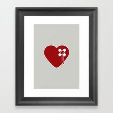 Heart Broken Framed Art Print