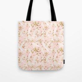 Gold Glitter Splash Tote Bag
