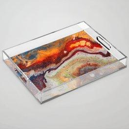 Fiery closeup Acrylic Tray