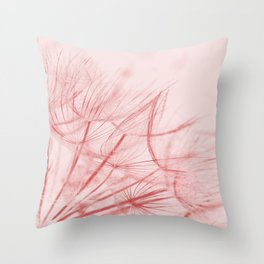 Dandelion In Pink Throw Pillow