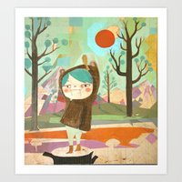 Bear Girl Art Print