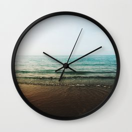 Vivid Morning Waves Wall Clock