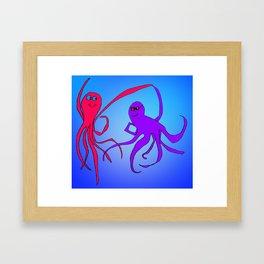 Octopus Friends Framed Art Print