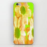 vintage flowers iPhone & iPod Skins featuring Vintage Flowers by Vitta