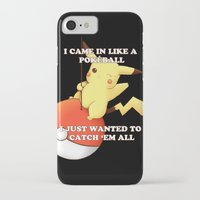 pokeball iPhone & iPod Cases featuring Pokeball by Mie Kristensen