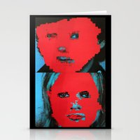 talking heads Stationery Cards featuring Talking Heads - Remain in Light by NICEALB