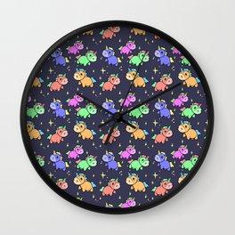 Nightime Unicorns Wall Clock