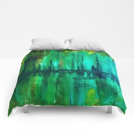 Green reflection Comforters