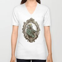 royal V-neck T-shirts featuring Royal Portrait, 1931 by Eric Fan