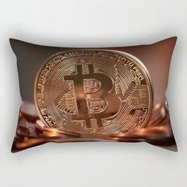 Bitcoin Cryptocurrency Rectangular Pillow
