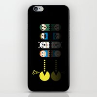 tintin iPhone & iPod Skins featuring Pacman with Tintin Ghosts by NicoWriter