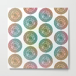 MANDALA MULTI COLOR GRADIENT COLLAGE Metal Print