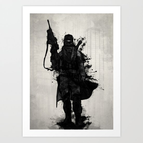 Post Apocalyptic Warrior Art Print