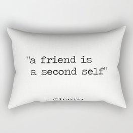 "Marcus Tullius Cicero ""a friend is a second self"" Rectangular Pillow"