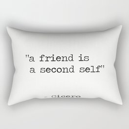 "Marcus Tullius Cicero ""a friend is a second self"" Rectangular Pillow"