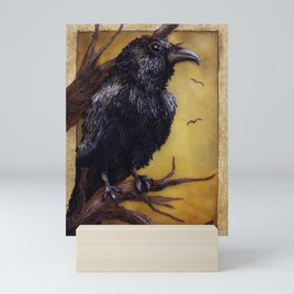The Raven - polymer clay painting/lightbox Mini Art Print