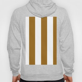 Wide Vertical Stripes - White and Golden Brown Hoody