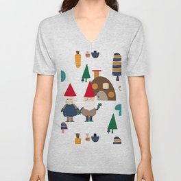 Gnome white Unisex V-Neck