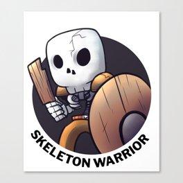 Level Up - Skeleton Warrior Canvas Print