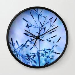 Blue Grass Wall Clock