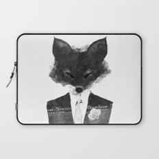 minima - dapper fox | noir Laptop Sleeve