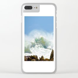Christmas Wave Clear iPhone Case