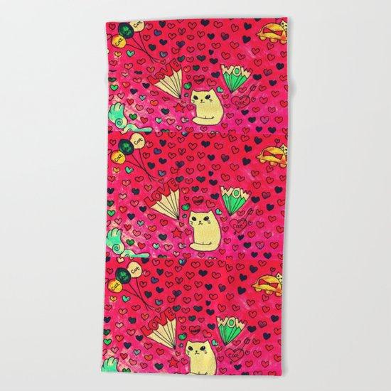cats-411 Beach Towel