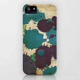 Abstract Lemonchiffon khaki splash iPhone Case