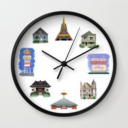 Places of Warren - Warren Ohio 100 Wall Clock
