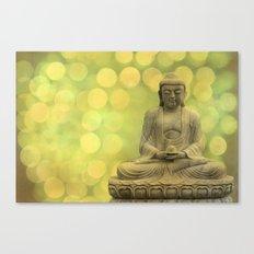 Buddha light yellow Canvas Print