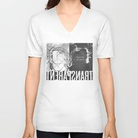 transparent V-neck T-shirts featuring Transparent by GarthIvan
