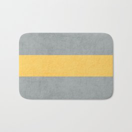 gray and yellow classic Bath Mat