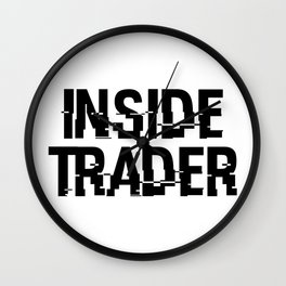 Inside Trader Wall Clock