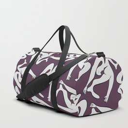 Picasso Pattern - Purple Background Duffle Bag